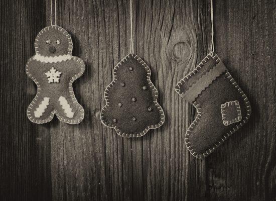 Weihnachten Holzhintergrund mit Baum und Stiefel Banner