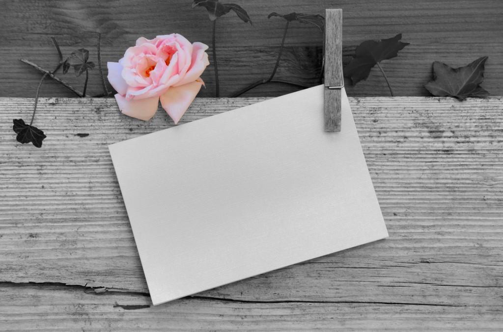 ein leeres Blatt Papier Herz Color Key