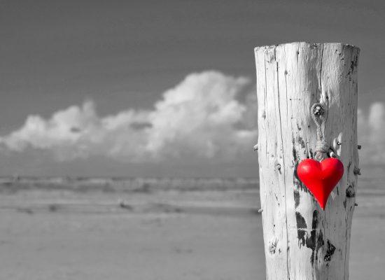 ein Herz am Strand