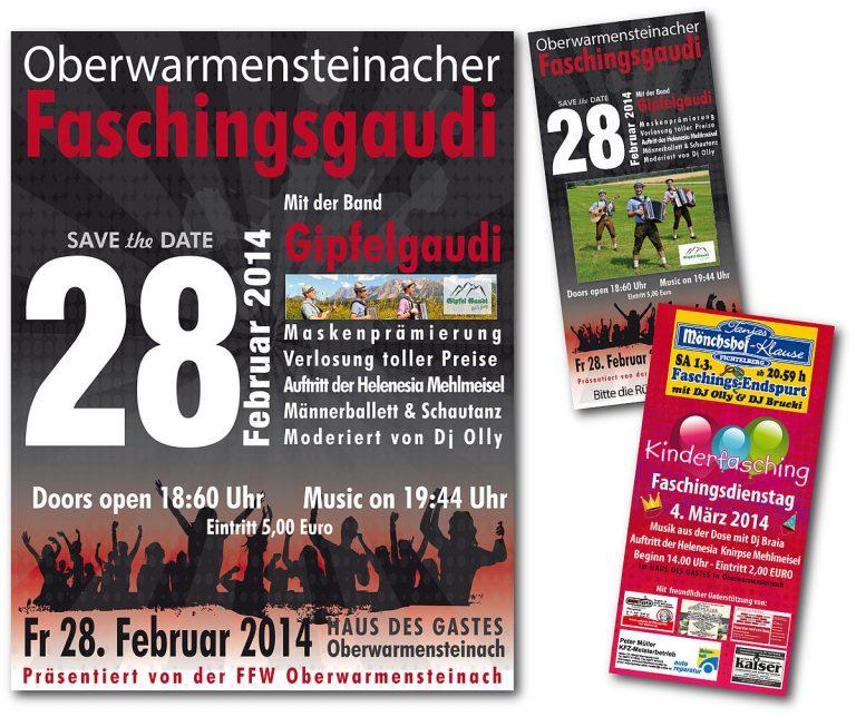 Plakat und Flyer Faschingsgaudi