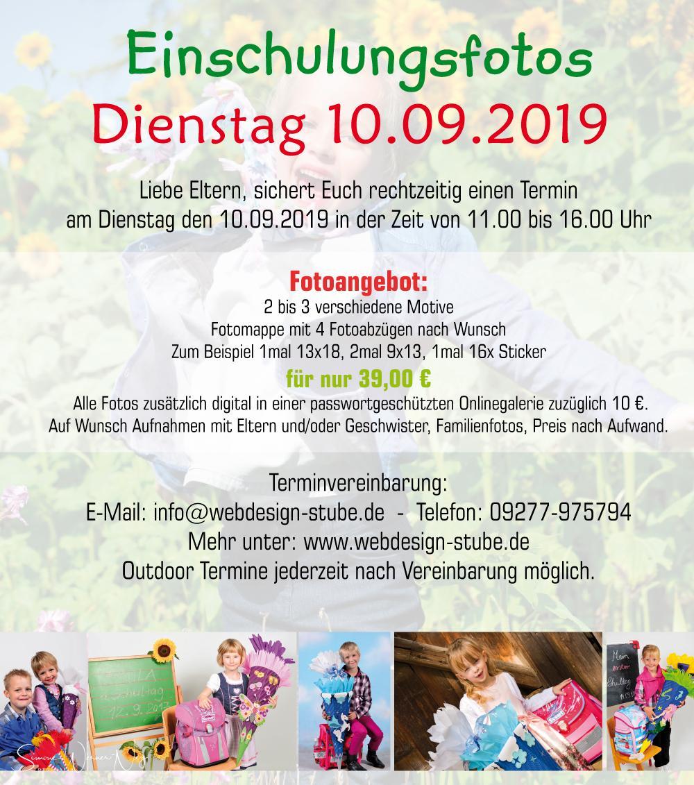 Angebot Fotos Schuleinführung 2019