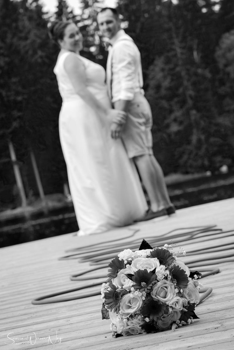 Hochzeitsfotos in schwarz  weiß