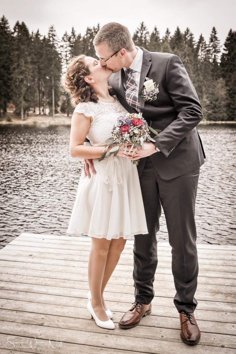 Winter Hochzeit am Fichtelsee