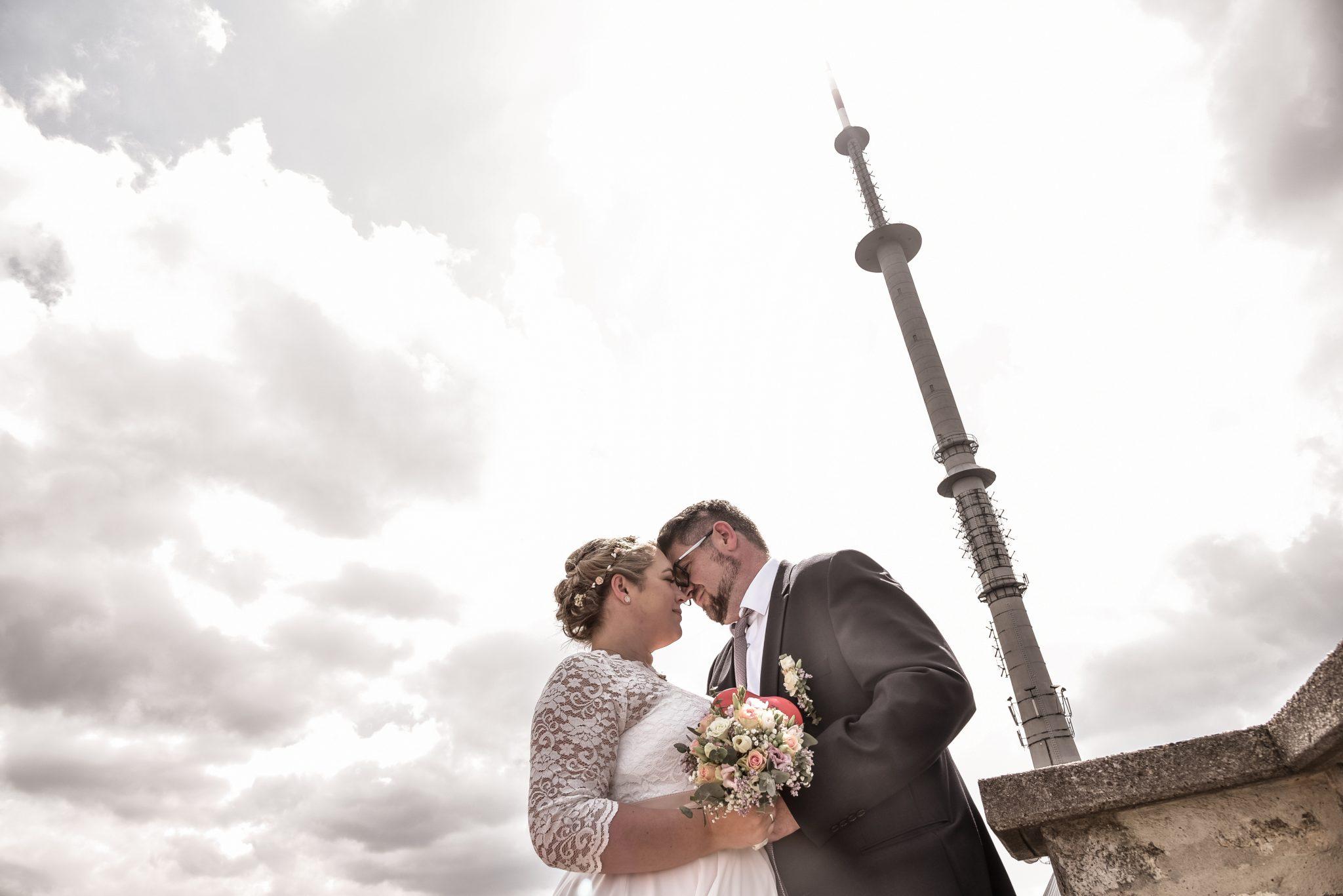 Hochzeitsfotos am Ochsenkopf Brautpaarshooting