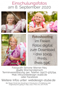 Einschulungsfotos Angebot für den 8. September 2020, Schuleinführung, Fichtelgebirge, Warmensteinach, Fichtelberg, Mehlmeisel, Bischofsgrün, Fotos,