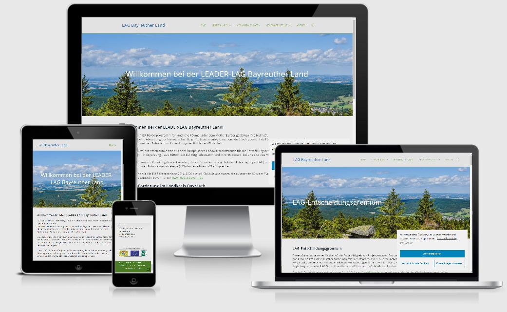 Webseite für LEADER-LAG Bayreuther Land