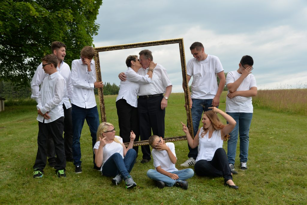 Familienfotos und Gruppenbilder
