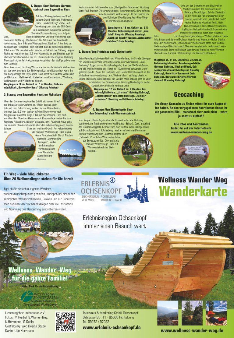 Flyer/Faltkarte Wellness Wander Weg
