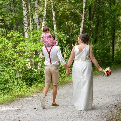 Hochzeit Fichtelsee  Brautpaarfotos