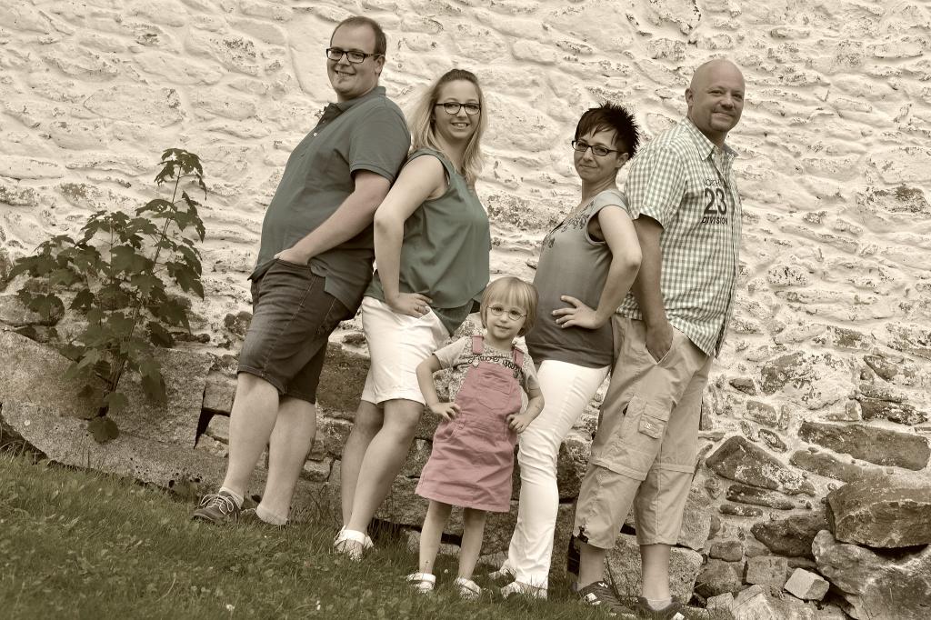 Familienfotos und Gruppenbilder im Fotostudio