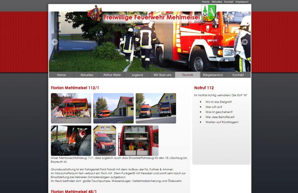 FFW Mehlmeisel Webseite